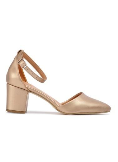 Maje 1901 Ten Kadın Topuklu Ayakkabı Altın